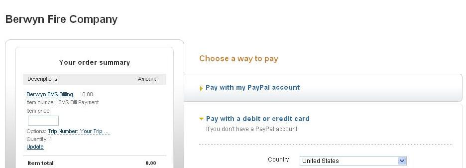 how to change billing country on paypal