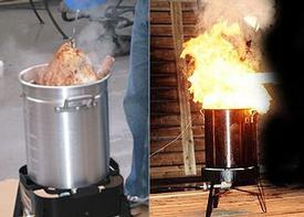 This is what will happen if you aren't careful with your Turkey Fryer.
