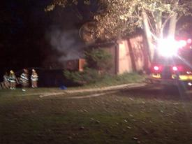 Firefighters were called to this late evening blaze in the Paoli section of Tredyffrin Township.