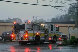 Engine 2-3 responding to another emergency.