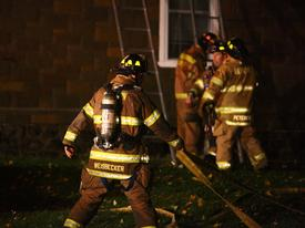 Berwyn firefighters had the fire under control in 15 minutes from the time of dispatch on Maple Ave. in Easttown Township.