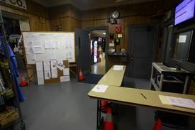 The area outside the Radio Room was re-organized prior to the opening of the BFC Emergency Operations Center.