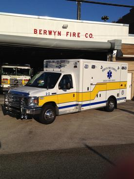 Berwyn's new state-of-the-art ambulance.