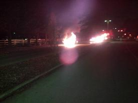 Berwyn firefighters made quick work of this car fire on Chesterbrook Blvd. Saturday evening.