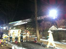 Tower 2 was able to navigate up the long driveway to the residence, which was a 1/4 mile off S. Radnor Chester Rd.