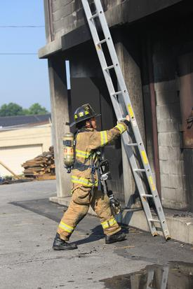 The ladder truck crew is responsible for many fireground tasks including putting up ladders to allow for removal of trapped occupants and to allow for firefighters to safely escape a structure if conditions deteriorate inside.