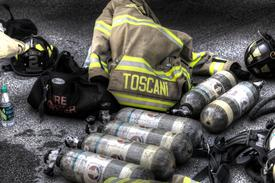 An individual firefighter can go through a number of air bottles during one fire.  Each bottle lasts for up to half an hour - imagine doing your everyday workout while wearing a heavy backpack and breathing into a mask!