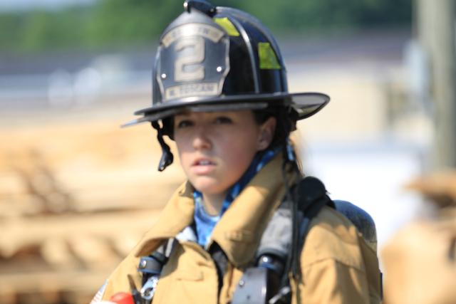 FF Mary Ellen Toscani joined Berwyn while in high school.  She is now a very active member and is part of both Berwyn's specialized Rapid Intervention Team and Confined Space Technical Rescue Team.
