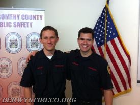 Firefighter Andrew Ritter and Ryan Peterson continue the BFC tradition of training excellence.