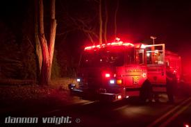 Berwyn Engine 2-2 staged out on Old Eagle School Road near Wallace Drive.