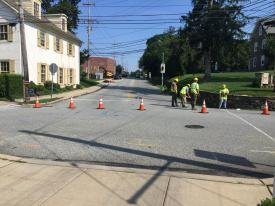 The roadway between Old Lancaster Road and Conestoga Road is currently being worked on for the next several weeks. The project will eventually make its way down between Howellville Road and the entrance to the Main Line Berwyn Apartments.