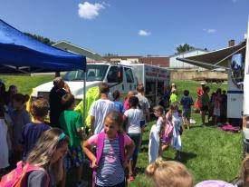Members of the Chester County Hazardous Materials Team is always a hit with the campers.