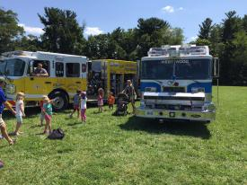 The East Whiteland Fire Company (Engine 5-1) and Westwood Fire Company (Rescue 44) were also a big hit with the campers.