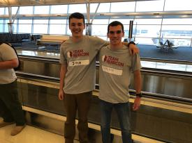 Berwyn Firefighter John 'Jack' Zabinski and Valley Forge Firefighter Lorenzo Gianandrea departed from JFK Airport in NY this weekend to head to Texas with Team Rubicon USA.