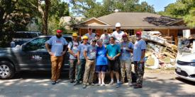 This was one of the damage assessment teams that Evan and Mary Ellen worked with in Harris County, Texas with Team Rubicon.
