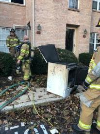 Firefighters removed the dryer and other debris to the exterior of the residence.