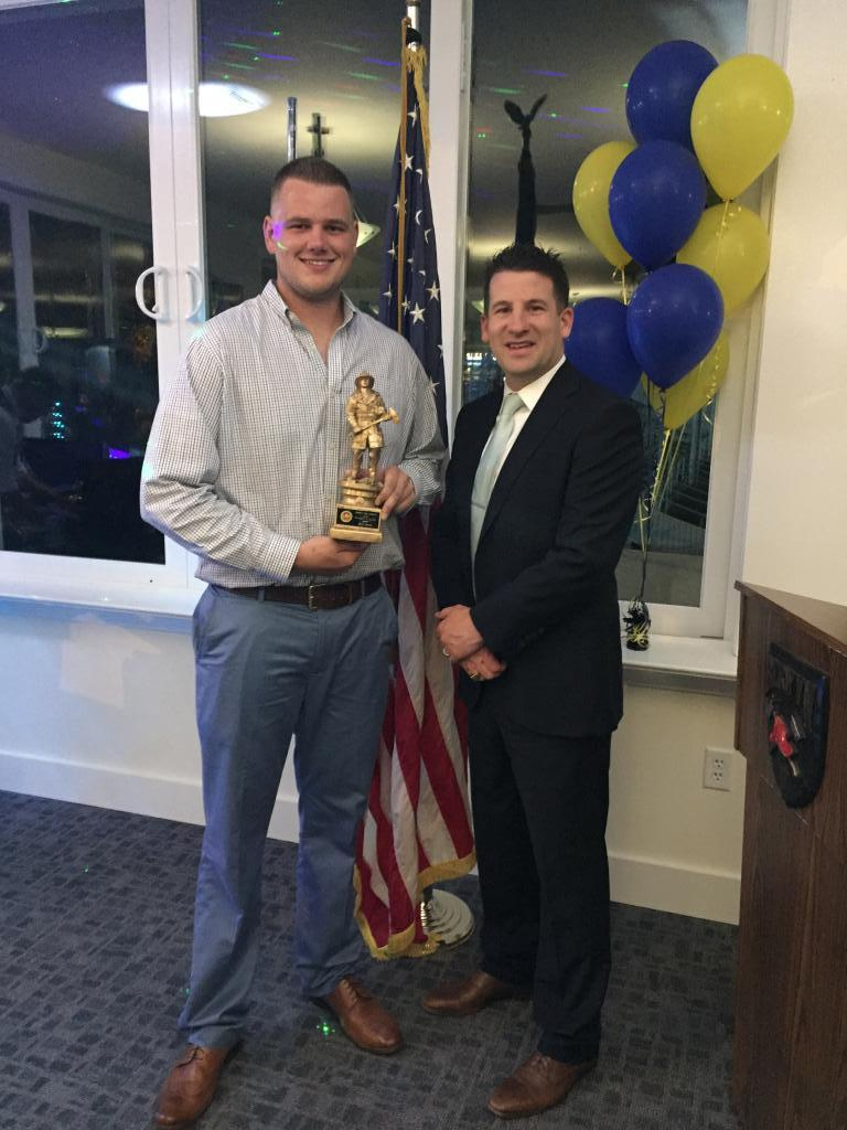Eric Javie received the Firefighter of the Year honors. This was voted on by the active membership of the Company.