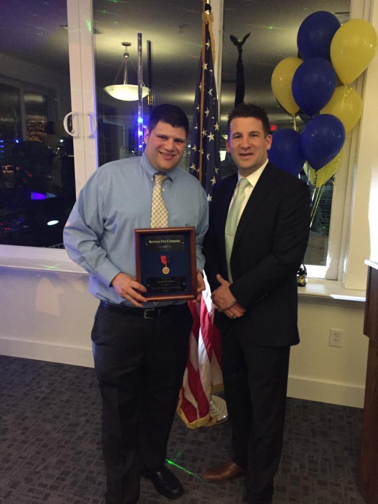 Scott Kramer was recognized for 15 years of volunteer service.