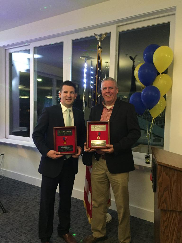 Eamon Brazunas and Christopher McDonald were recognized for attaining their Life Membership for 20 years of service.