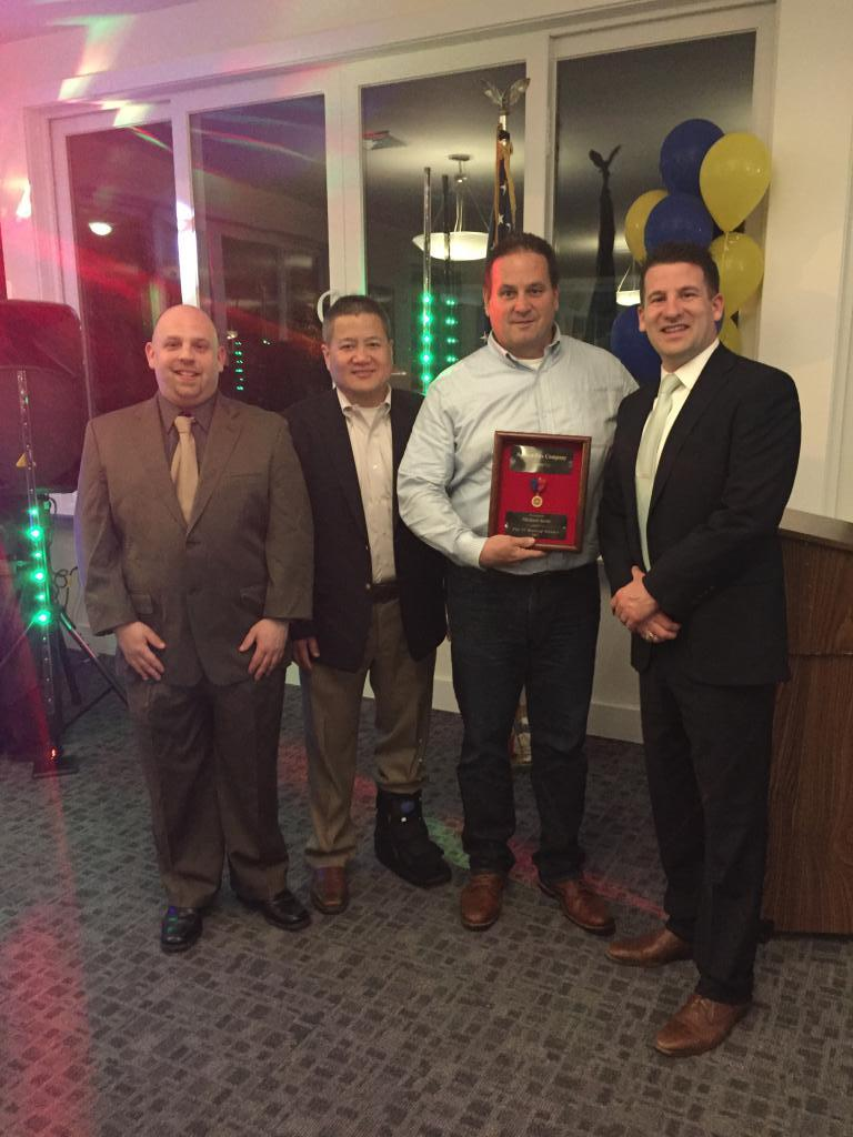 Michael Javie was recognized for 25 years of volunteer service.
