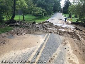 After the flood waters subside, debris often remains in the roadway which presents hazards for pedestrians and motorists.  Please use caution as you travel in areas impacted by this storm.