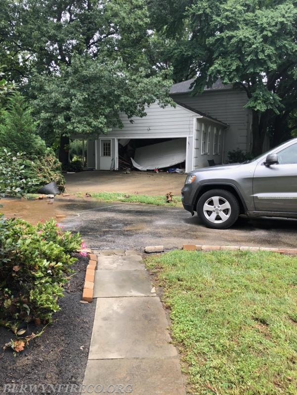 The force of moving floodwaters caused damage to multiple homes in Tredyffrin and Easttown Townships.