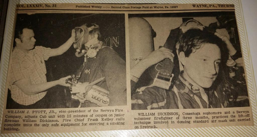 Old newspaper article highlighting Bill as a Sophomore at Conestoga High School.