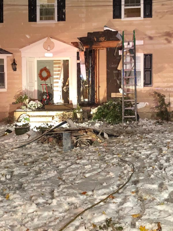 Thankfully, the homeowners and their dogs safely evacuated.