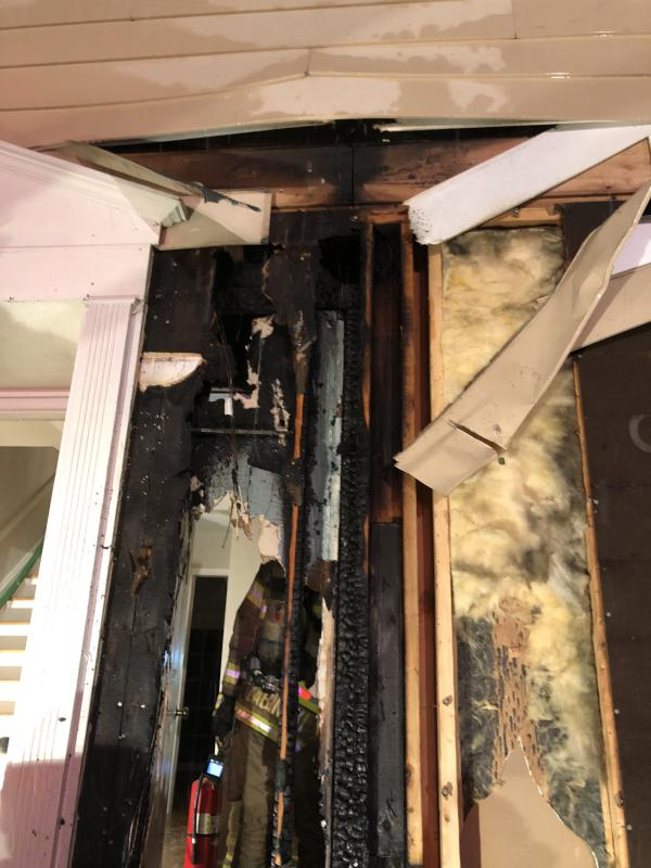 The damage was limited to the residence due to the diligent efforts of firefighters.