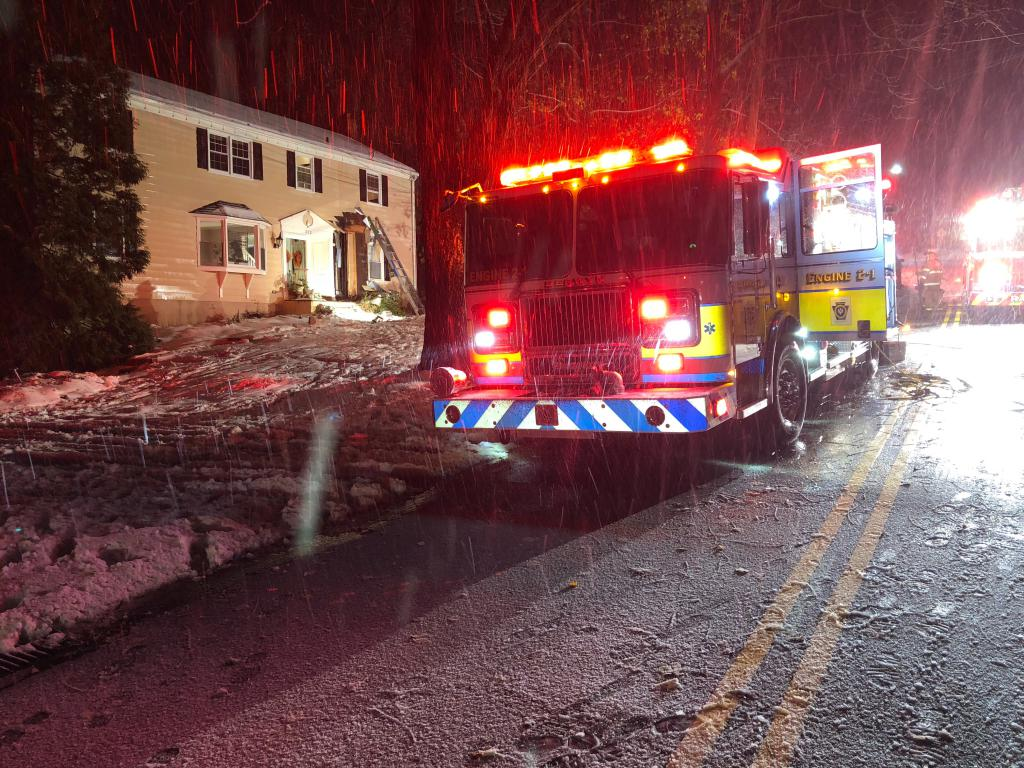 The crew of Berwyn Engine 2-1 arrived on scene with a smoke condition in a 2-story residence.