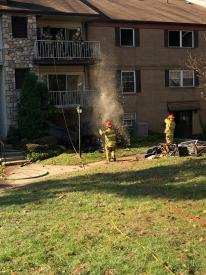Even after the fire goes out, firefighters spend time checking for hot spots and preserving property from further damage.