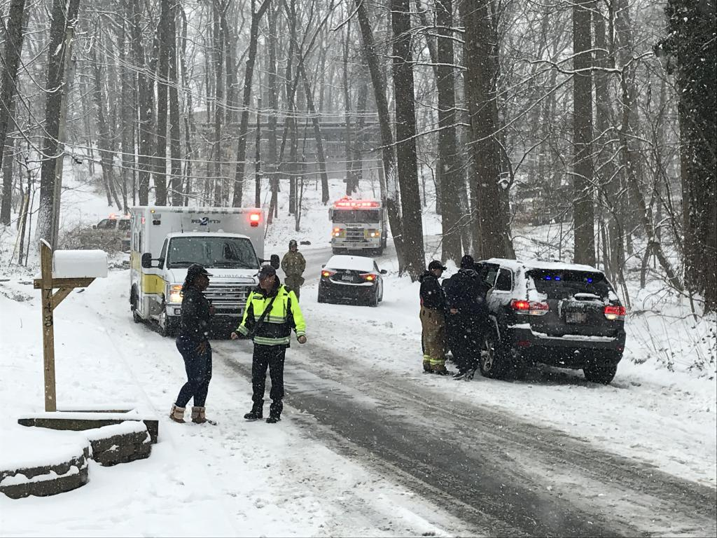 N. Valley Forge Rd. was closed between Timber Ln. and Devon State Rd. in Tredyffrin Twp. as fire/EMS crews handled a motor vehicle collision yesterday.