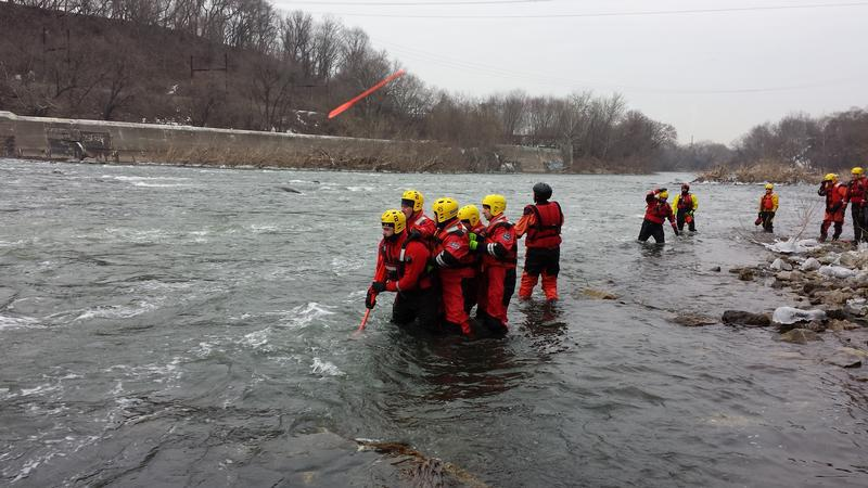 Water rescue training with members from the Fame Fire Company-West Chester, Alert Fire Company-Downingtown, Berwyn Fire Company, Wagontown Fire Company and Lionville Fire Company.