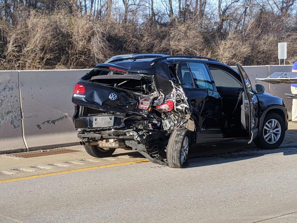 A pick-up truck rear ended this vehicle on Rt. 202 North near the ramp from Rt. 252 in Tredyffrin Township sending 3 people to Paoli Hospital.