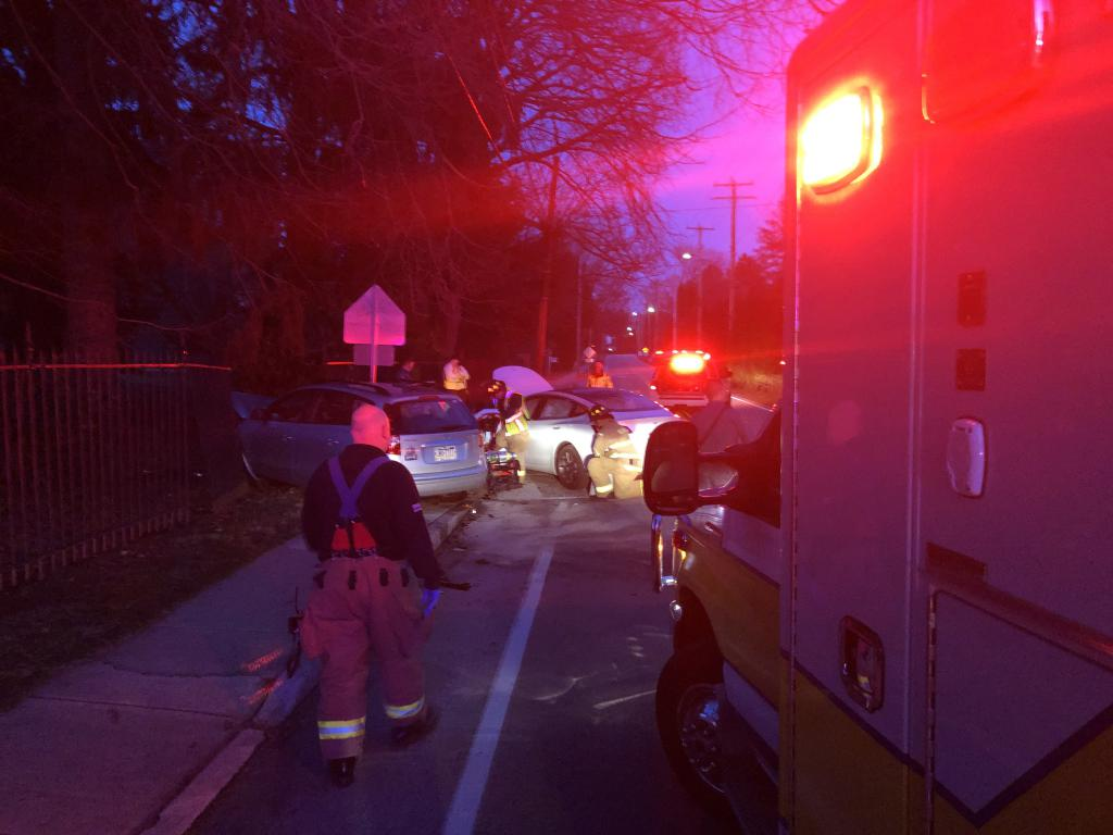 EMS crews transported 2 subjects to Paoli Hospital after a motor vehicle collision at Conestoga Rd. and Cassatt Ave. in Tredyffrin Township.