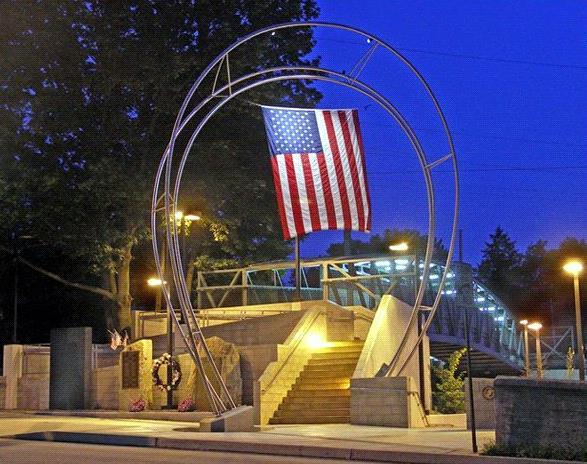 The Berwyn Veterans Memorial located at the Berwyn Train Station along Lancaster Ave. in Berwyn.
