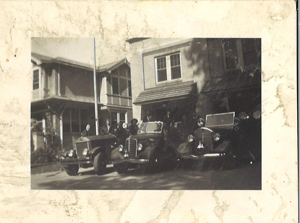 The home where Bill grew up next to the fire station on Bridge Ave. is pictured above in 1929. In 1970, Bill's home was purchased by the Company so that the firehouse could be expanded to fit modern fire trucks and other equipment.
