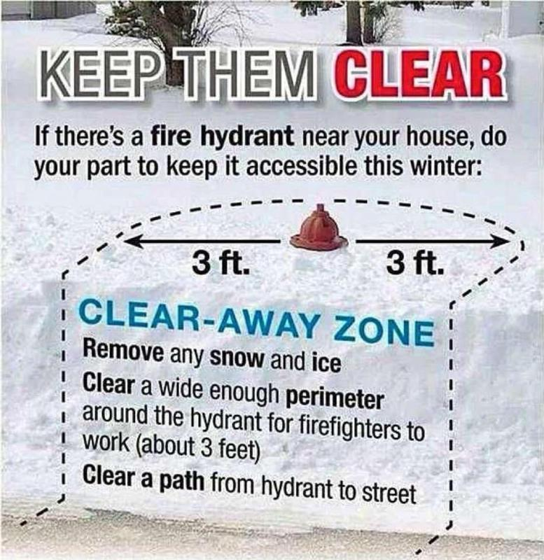 Please help the Berwyn Fire Company and make sure we can see your fire hydrant.