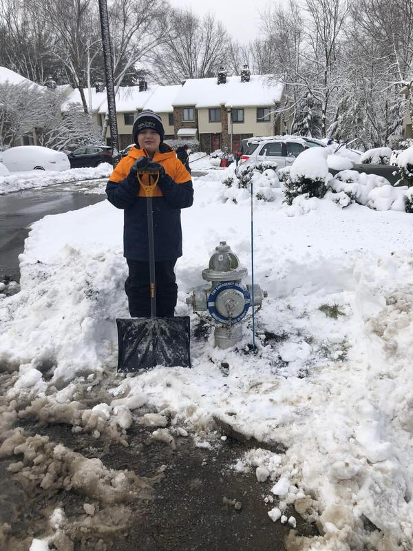 Thanks to Chestebrook resident Gavin Brown for helping clear out a fire hydrant in his neighorhood.