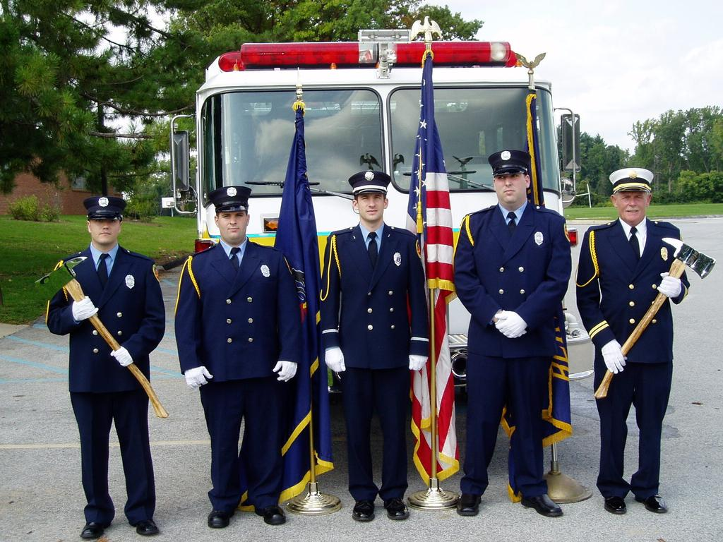 Charlie proudly participated at special ceremonies on a regular basis. This photo was taken at a 9/11 Memorial Blue Mass at St. Isaac Jogues Parish.