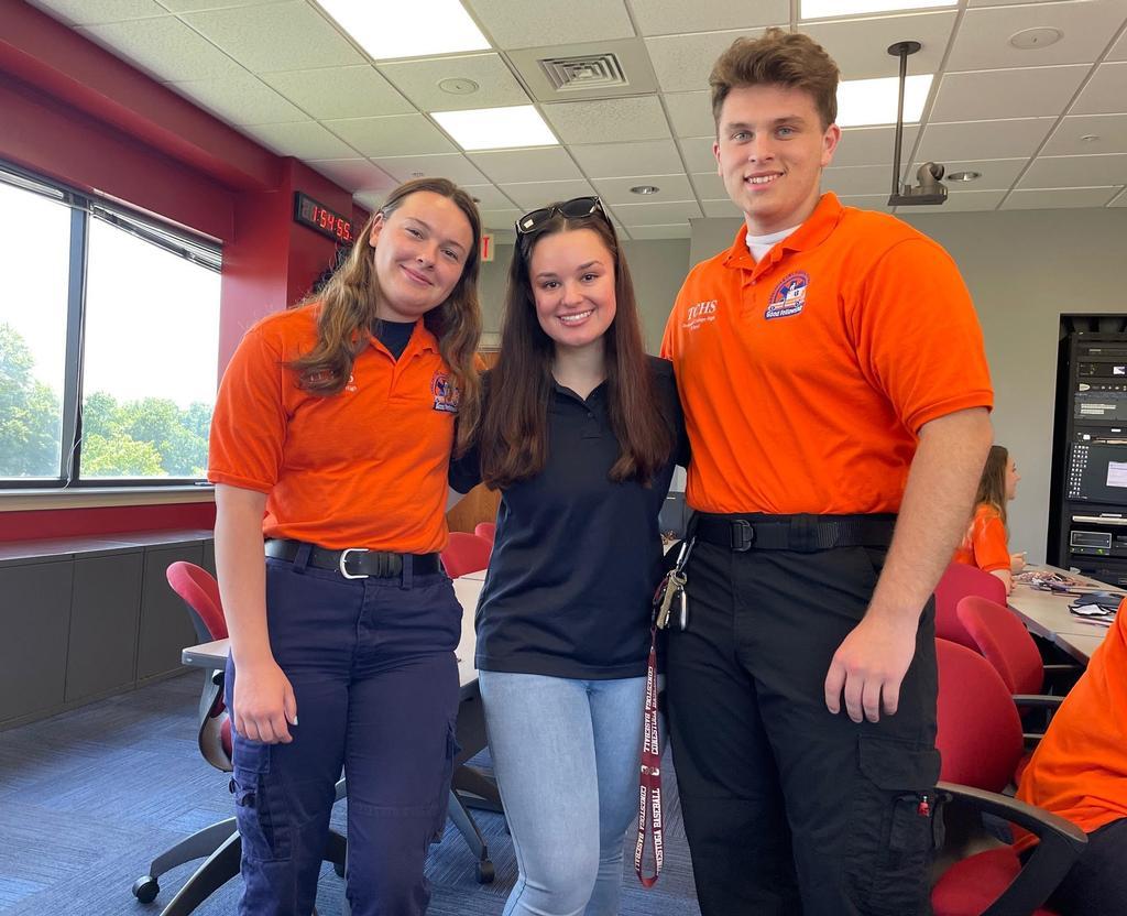 Berwyn EMT Grace Frey and Berwyn FF/EMT Ethan Tartaglio were named Students of the Year.