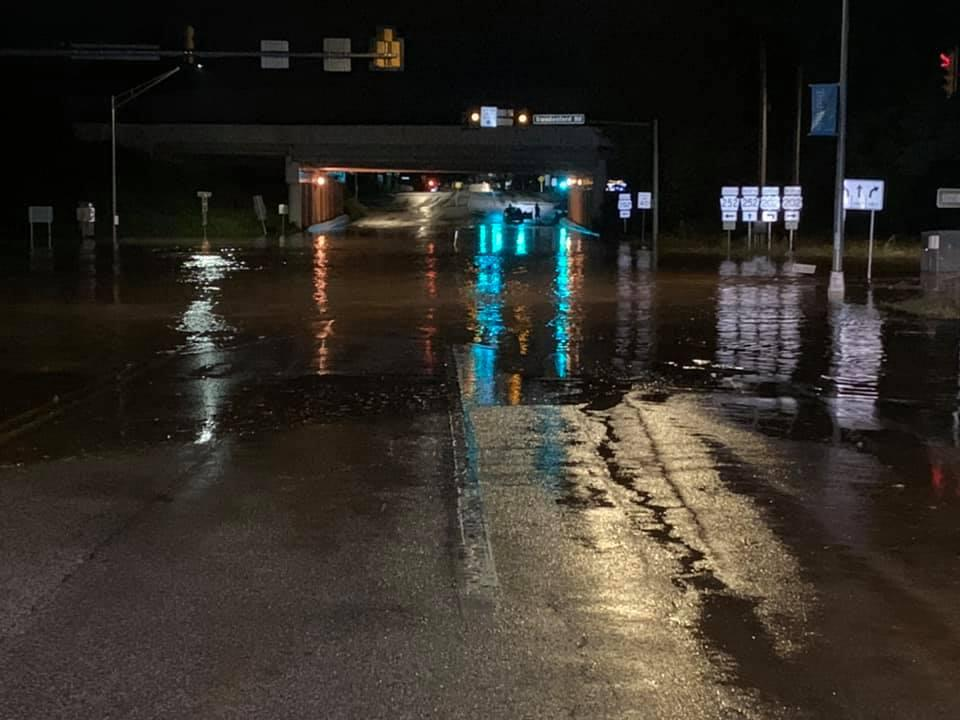 Flooding in the area of Valley Forge Rd. and Swedesford Rd. in Tredyffrin Township. Turn Around, Don't Drown!