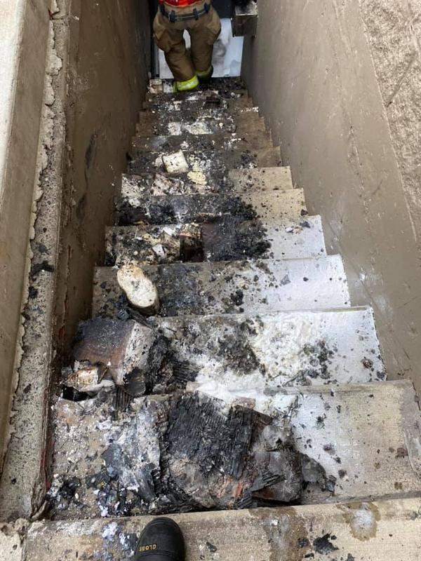 Firefighters worked diligently to ensure the fire was extinguished and that further damage was limited to the business.
