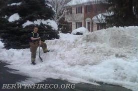 Is your fire hydrant buried in the snow? There is a hydrant hidden in this snow bank.